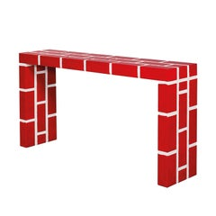 Red Brick No. 5 Console Table by Richard Woods for Memphis, 2011