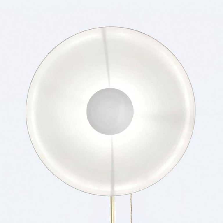 Other Parabola White, Copper Floor Lamp with Brass Base Designed by Atelier Biagetti For Sale