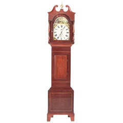 Antique Mahogany Inlaid Grandfather Clock