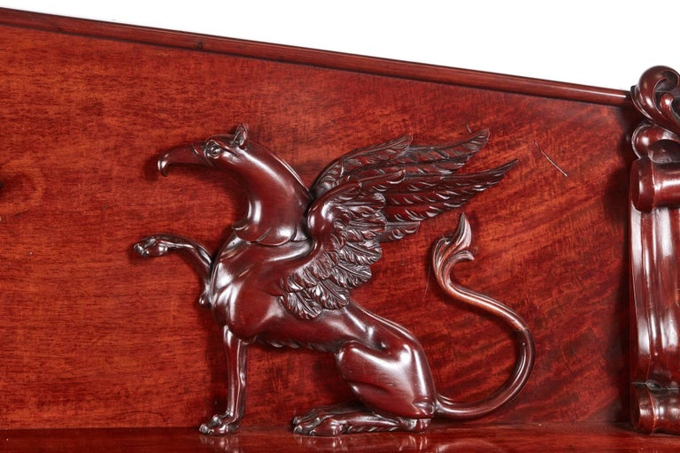 Outstanding Quality William IV Carved Mahogany Sideboard For Sale 2