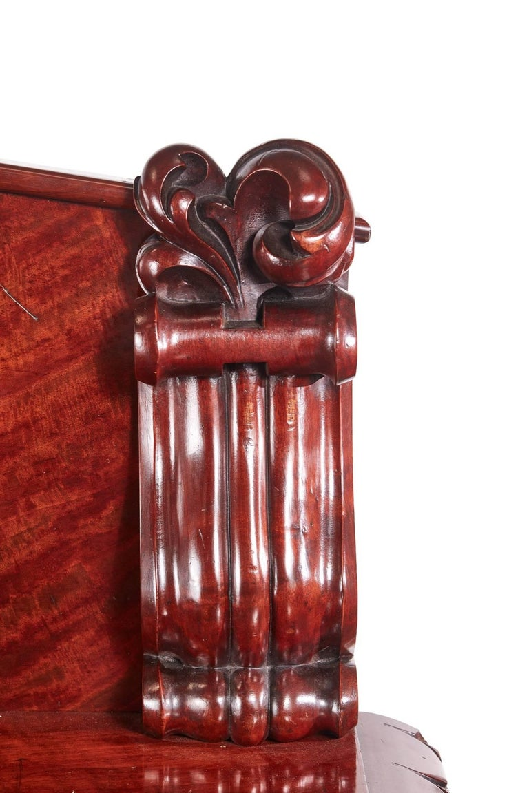 Outstanding Quality William IV Carved Mahogany Sideboard For Sale 3