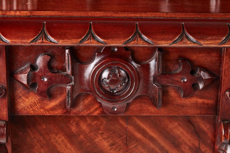 Outstanding Quality William IV Carved Mahogany Sideboard For Sale 5