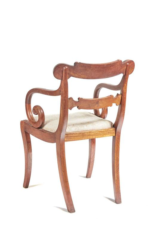 Fine Set of Six Regency Dining Chairs In Good Condition For Sale In Stutton, GB
