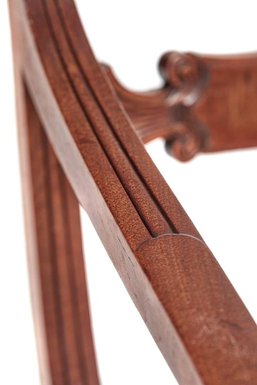 Mahogany Fine Set of Six Regency Dining Chairs For Sale