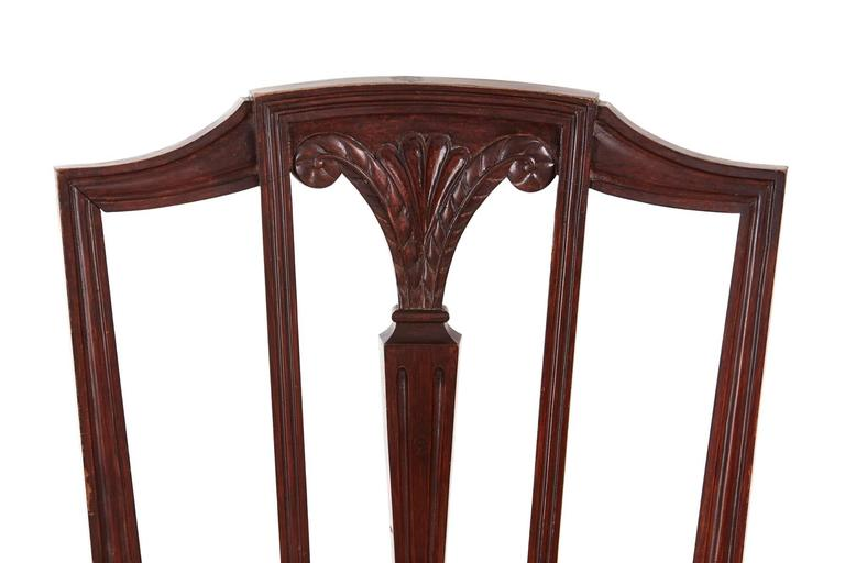 Victorian Pair of Mahogany Hepplewhite Side Chairs For Sale