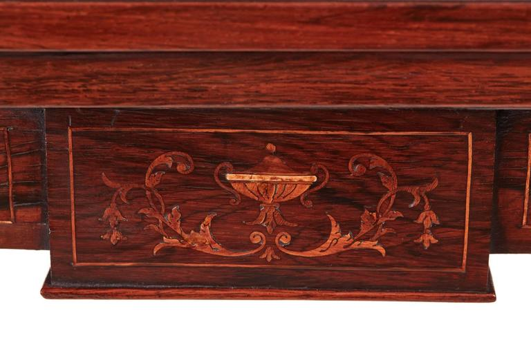 Early 20th Century Edwardian Rosewood Inlaid Card Table For Sale