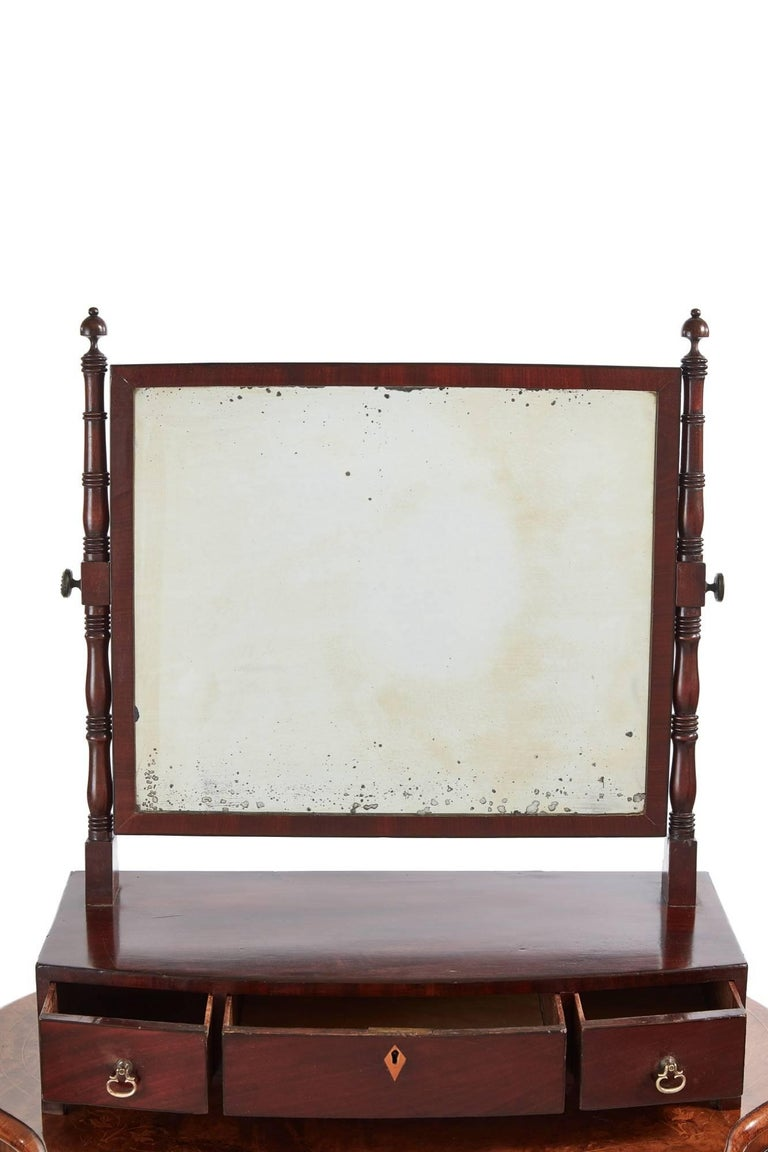 Georgian Mahogany Ladies Dressing Table Mirror For Sale at ...