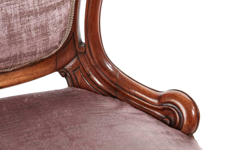 Fine Victorian Carved Walnut Ladies Chair In Excellent Condition For Sale In Stutton, GB