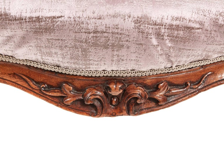 19th Century Fine Victorian Carved Walnut Ladies Chair For Sale