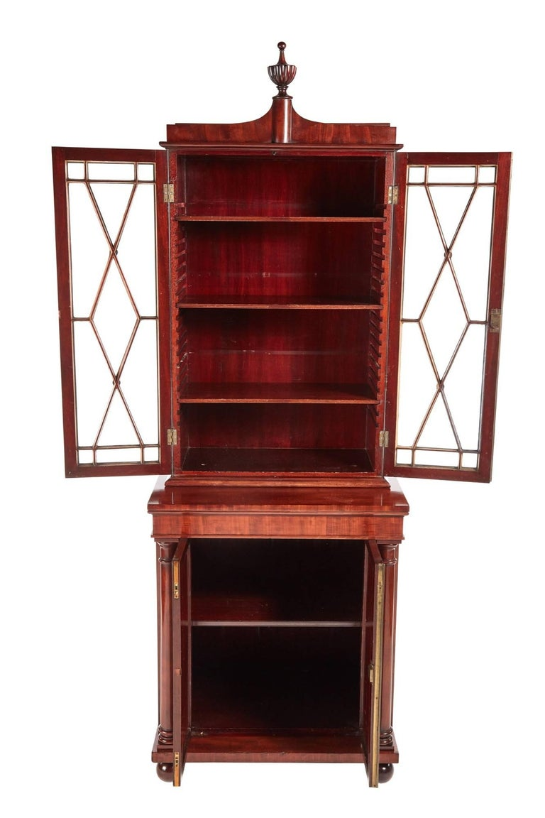 Fantastic Quality William Iv Mahogany Bookcase For Sale At