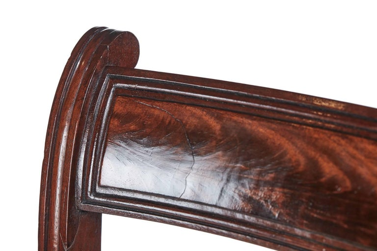 19th Century Fine Set of Six Regency Mahogany Dining Chairs For Sale
