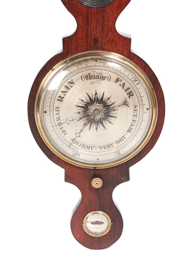 Large Antique Rosewood Banjo Barometer For Sale At 1stdibs