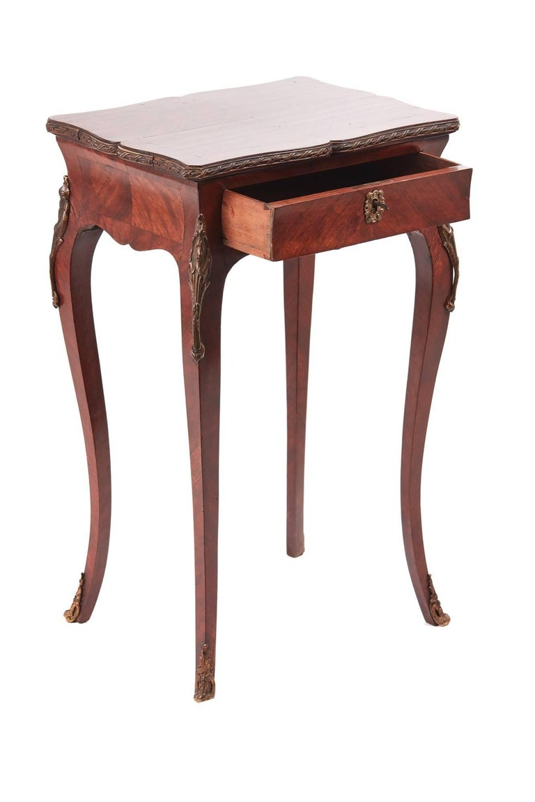 Quality antique french kingwood side or lamp table for for Side and lamp tables