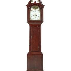 George III Oak and Mahogany 8 Day Grandfather Clock