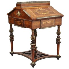 French Kingwood Miniature Partners Desk