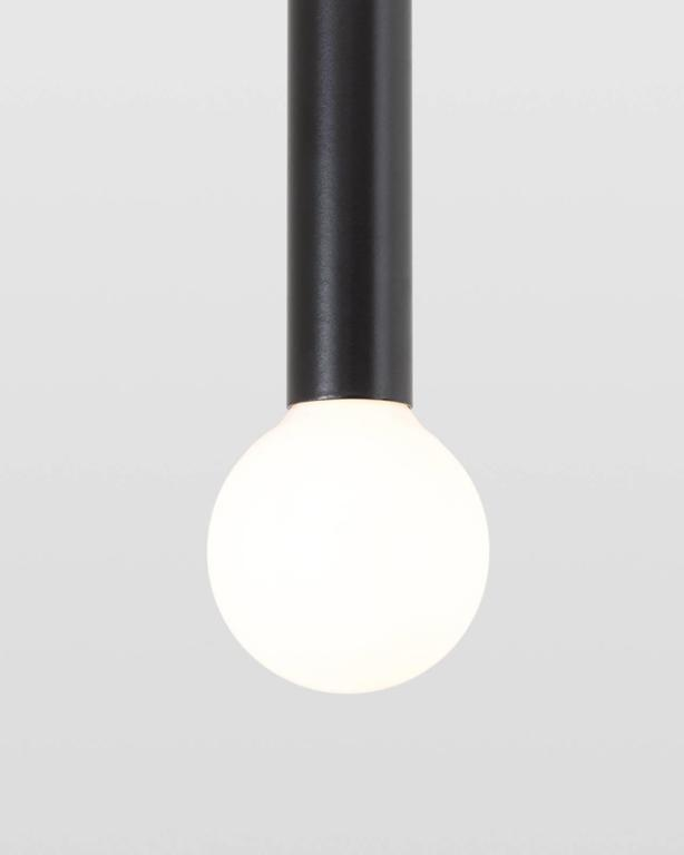 Inspired by the simple form of a matchstick, Strike's playful sophistication is born from simple geometric shapes combined with a refined sense of scale. A versatile light, Strike can be displayed as a single pendant or arranged in groupings to