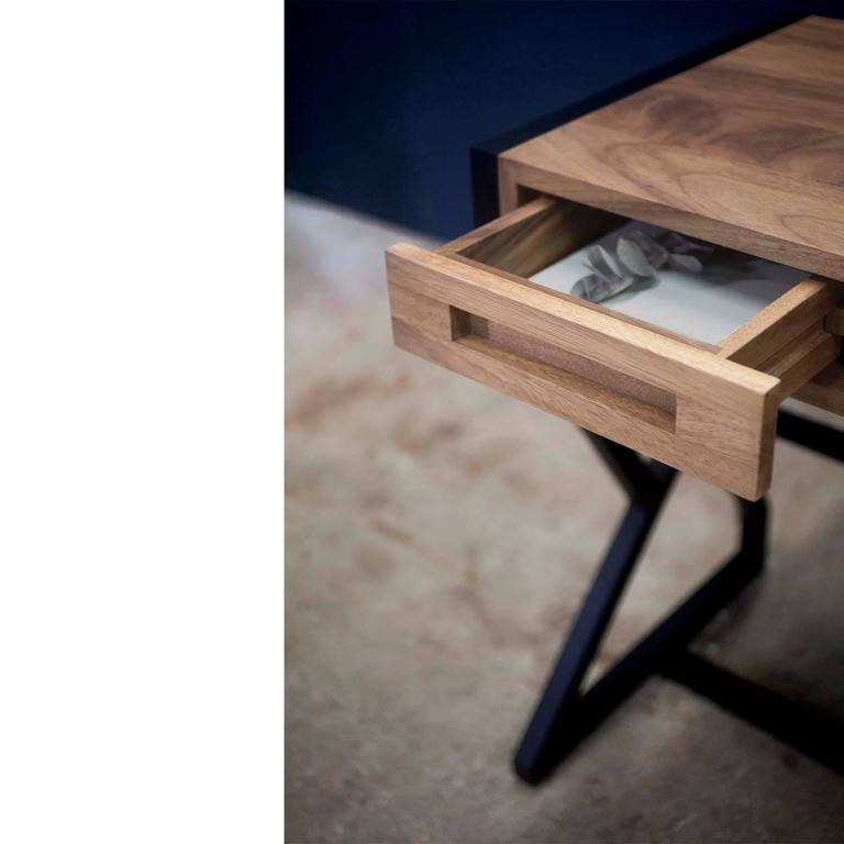The concept that inspired the levita chest and desk was to make it appear that they were levitating. The drawers are delicately supported by a structure inspired by the geometric traditional patterns found in indigenous Guatemalan textiles.