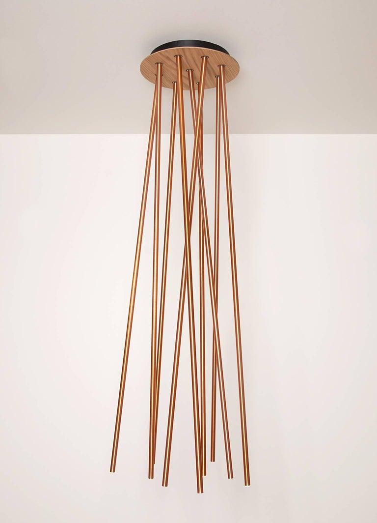 Scandinavian Modern Forester 9 Lamp, Copper For Sale