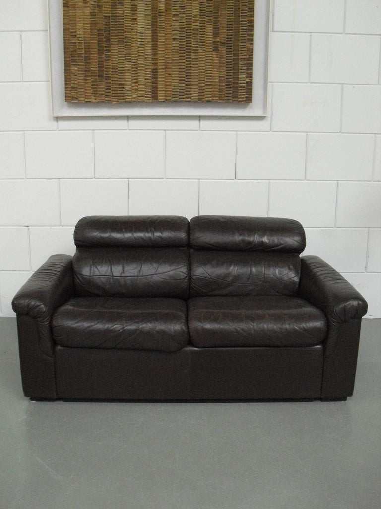 Soft Leather Two Seat Sofa By Oy Bj Dahlqvist Ab For Bd