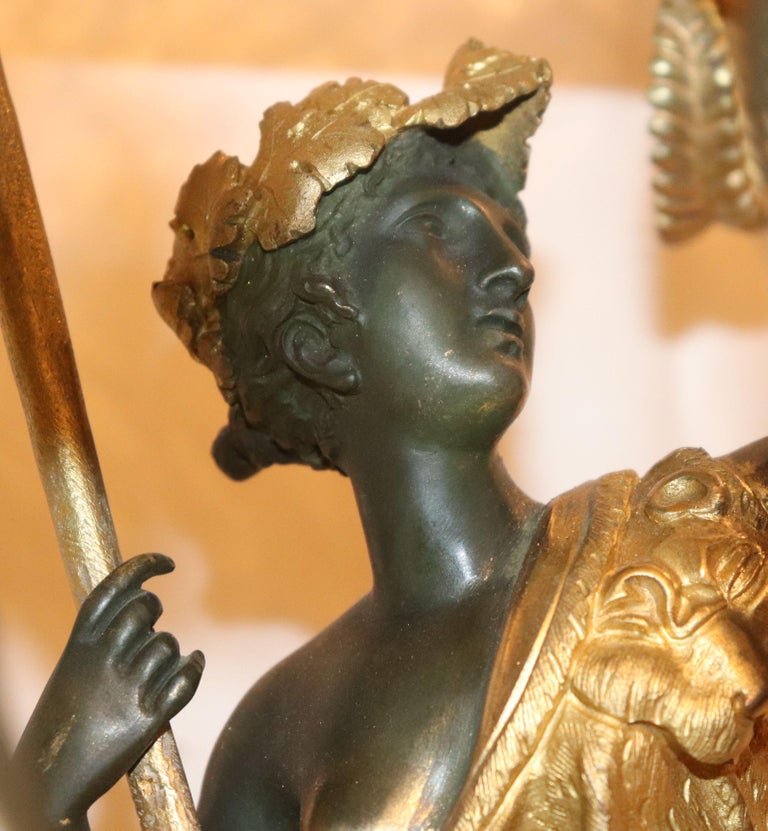 Gilt Bronze Empire Centrepiece with 6 Candlearms In Good Condition For Sale In Stockholm, SE