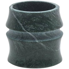 Cup in Green Guatemala Marble by Michele Chiossi, Italy. In Stock