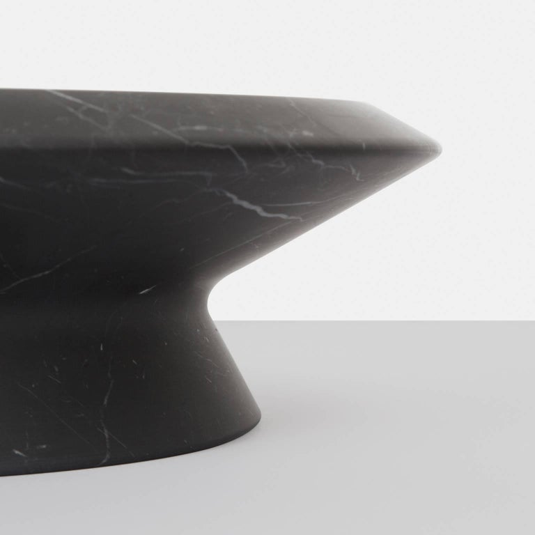 Modern Centerpiece in Black Marquina Marble by Ivan Colominas, Italy, In Stock For Sale