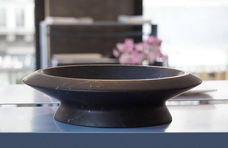 Italian Centerpiece in Black Marquina Marble by Ivan Colominas, Italy, In Stock For Sale