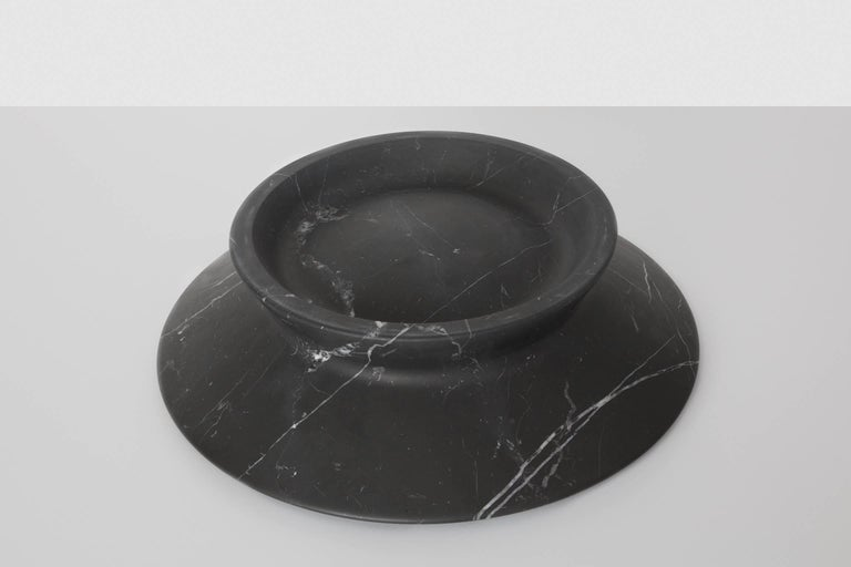 Centerpiece in Black Marquina Marble by Ivan Colominas, Italy, In Stock For Sale 1