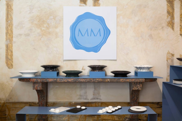Centerpiece in Black Marquina Marble by Ivan Colominas, Italy, In Stock For Sale 3