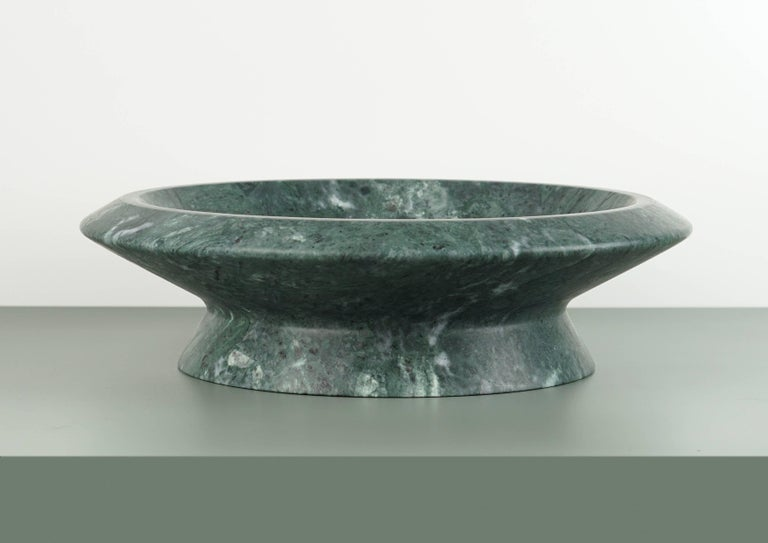 Contemporary Centerpiece in Green Guatemala Marble by Ivan Colominas, Italy  For Sale