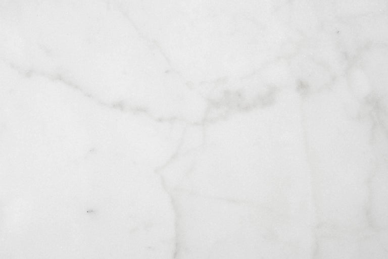 Contemporary Centerpiece in White Michelangelo Marble by Ivan Colominas, Italy in Stock For Sale