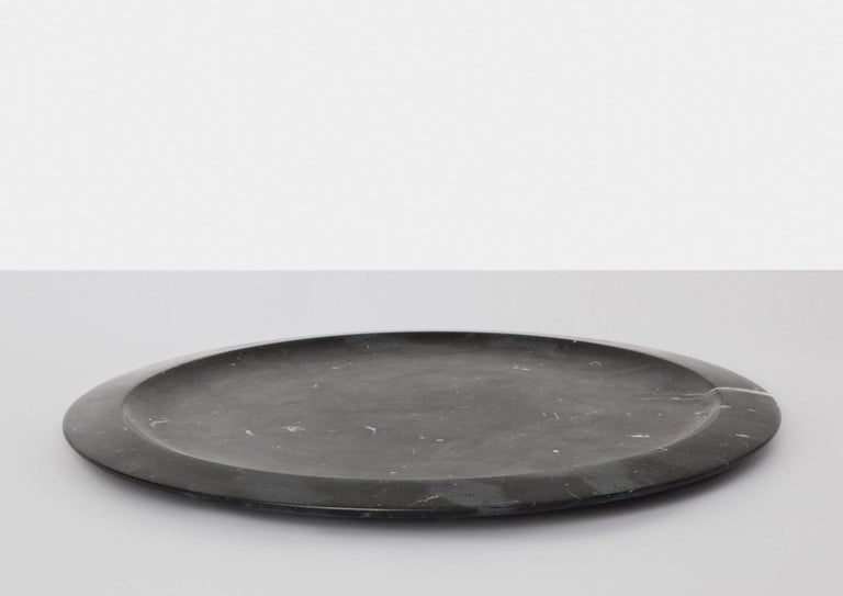 Modern Tray or Serving Platter in Black Marquina Marble by Ivan Colominas For Sale