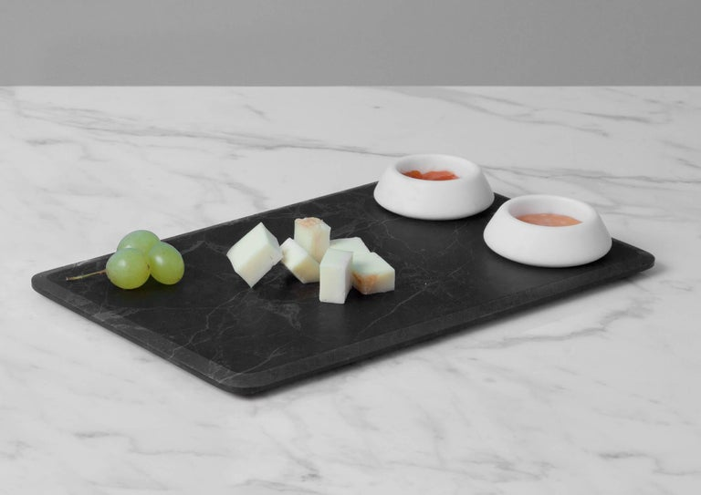 Modern Serving Platter with Bowls in Marble by Ivan Colominas, Italy, In Stock For Sale