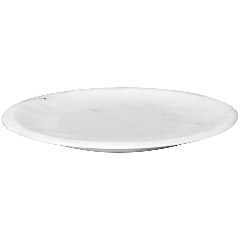 Dish in White Michelangelo Marble by Ivan Colominas, Italy, in Stock For Sale