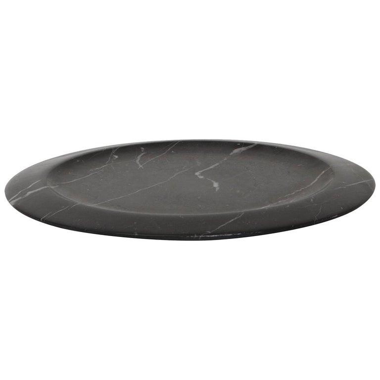 Dish in Black Marquinia Marble by Ivan Colominas, Italy, in Stock For Sale