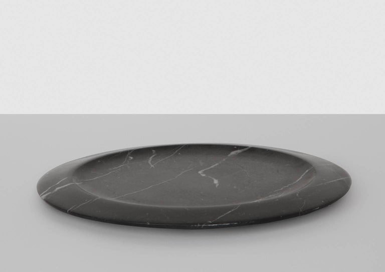 Modern Dish in Black Marquinia Marble by Ivan Colominas, Italy, in Stock For Sale