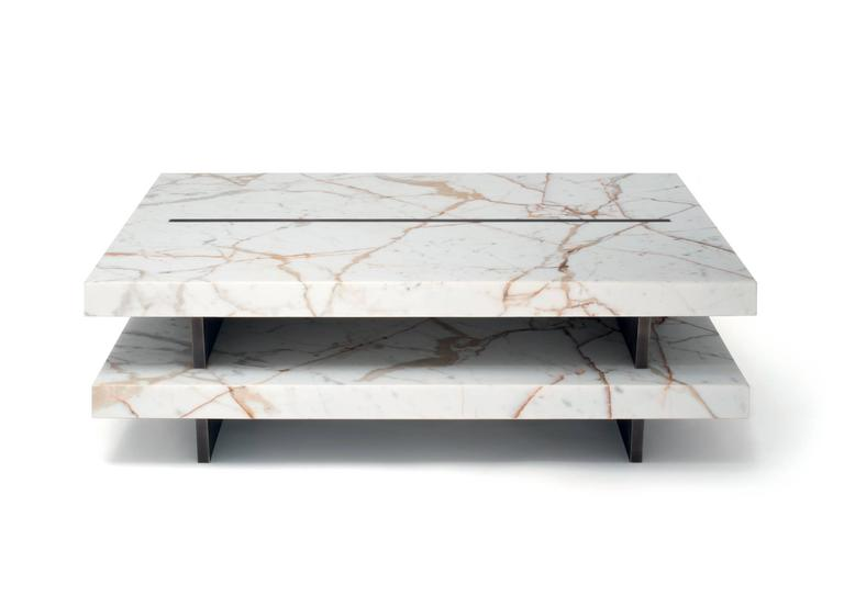 Coffee Table in Calacatta Gold Marble and Brass. Lim. Edition of 49 3