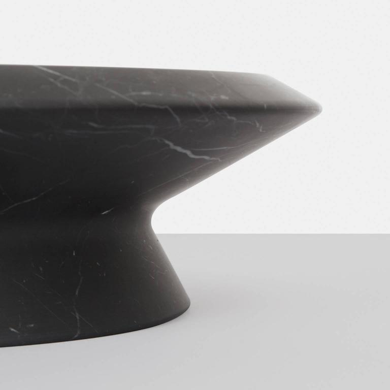 Modern Centrepiece in Black Marquina Marble by Ivan Colominas, Italy For Sale
