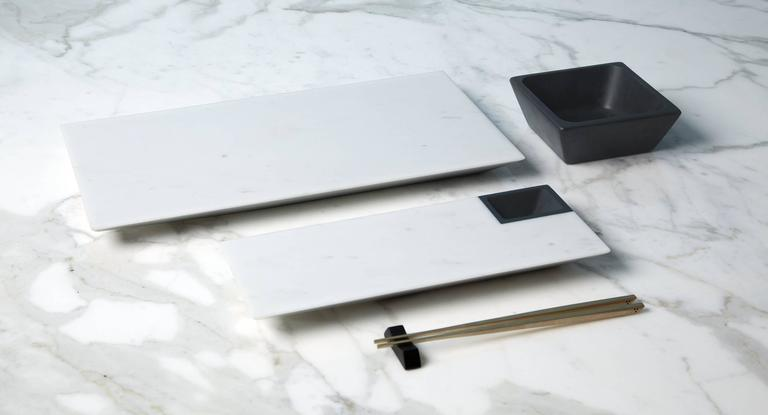 The idealized meeting of east and west has led Colominas to consider a sushi set that embodies Japan's Minimalist aesthetic with attention to detail for even the most mundane object. Making it extremely contemporary through a touch of design