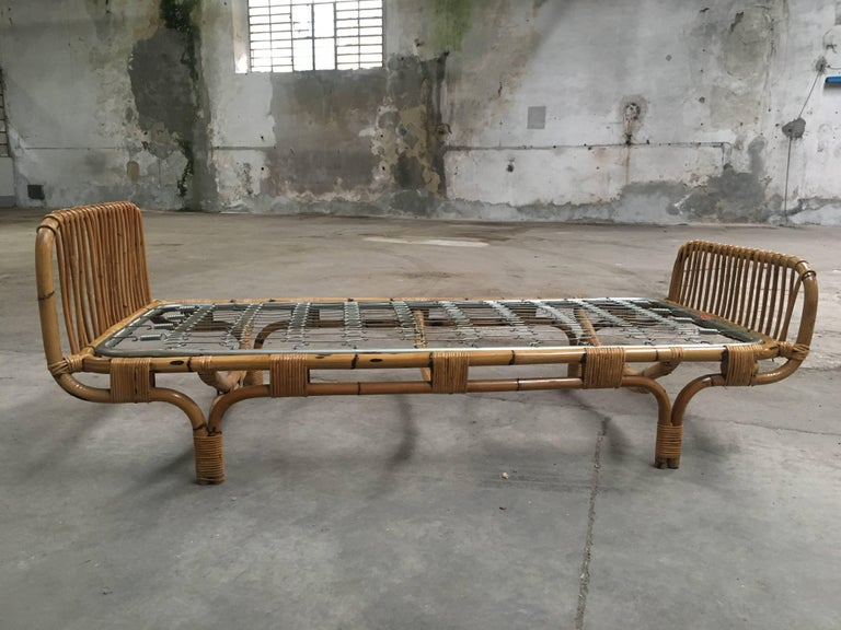 Italian Bamboo Single Bed From 1960s At 1stdibs