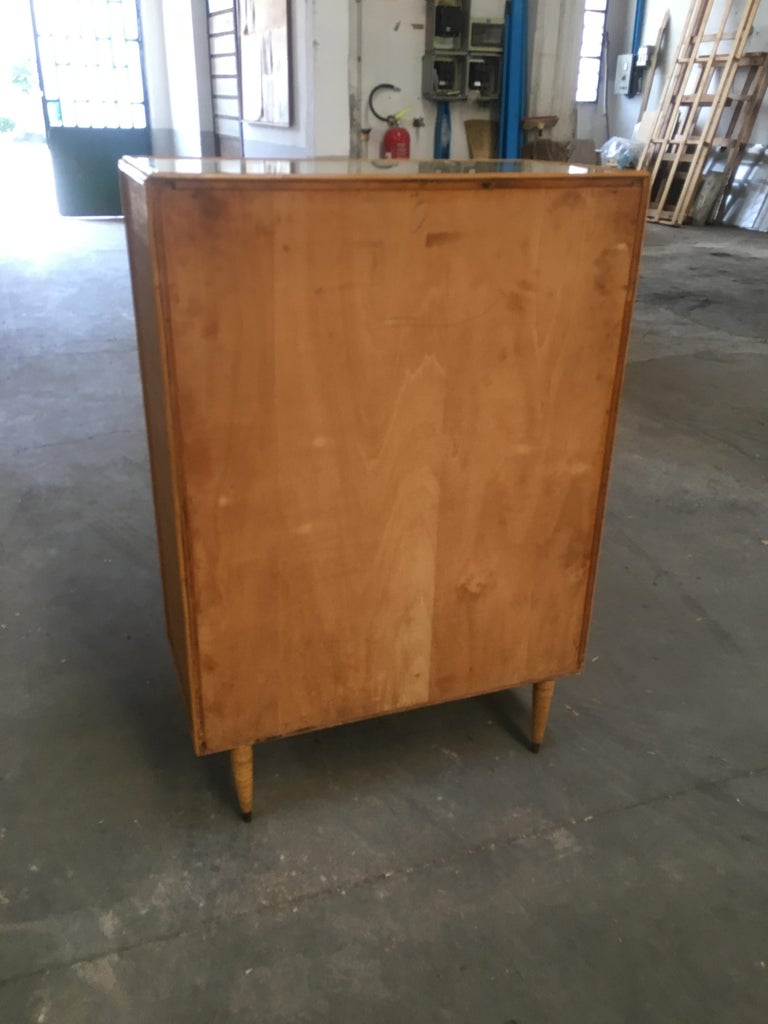Mid-Century Modern Italian Bamboo 'Settimino' or Chest of Drawers from 1970s For Sale 1