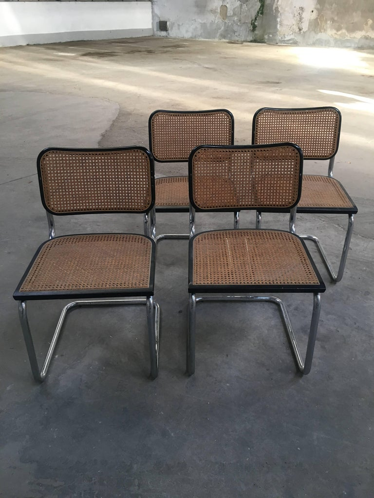 Italian Dining Chairs From 1970s By Marcel Breuer For