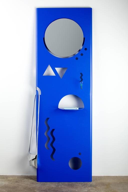 Just Cant Contemporary Valet by Another Human, Blue Powder Coated Metal 2