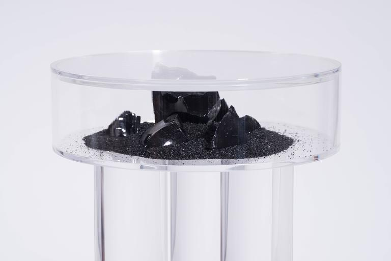 American Vacation Table by Another Human, Contemporary Acrylic Side Table, Dark Version For Sale