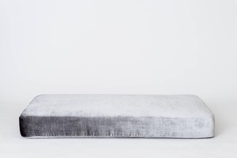 Stacks Bench by Another Human, Contemporary Upholstered Modular Bench, Velvet For Sale 4