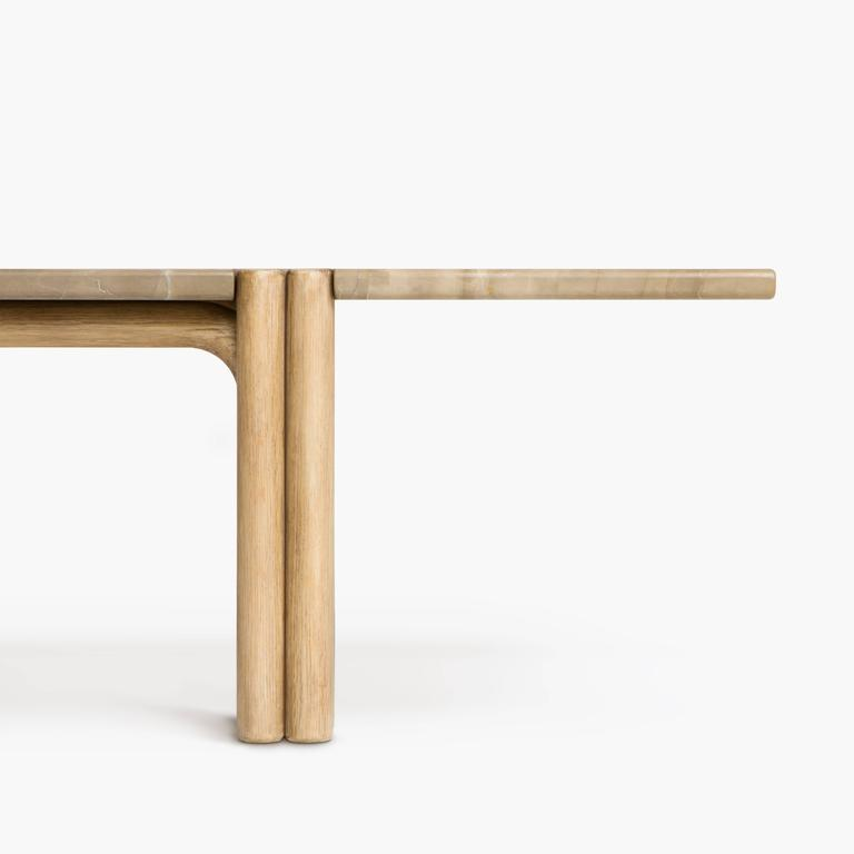 Ca21s Contemporary Handcrafted Minimalist Modern Marble And Oak Coffee Table For Sale At 1stdibs