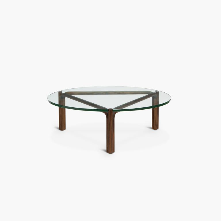 Ca4g contemporary handcrafted minimalist modern round for Round glass coffee tables for sale