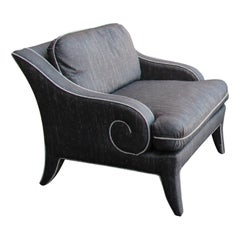 Milo Baughman for Thayer Coggin Upholstered Armchairs, Two Available