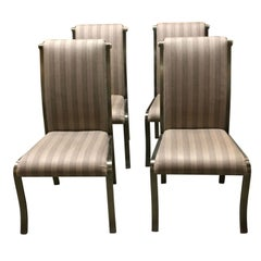 Set of Four Dia Gunmetal and Brass Chairs, circa 1960s