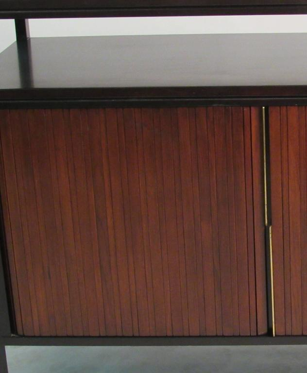 Edward Wormley Mahogany Cabinet with Tambour Doors for Dunbar, circa 1950s For Sale 1